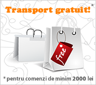 Transport GRATUIT pentru comenzi mai mari de 200 lei!