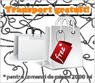 Transport GRATUIT pentru comenzi mai mari de 200 lei!